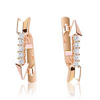 Золотые сережки із фіанітами г41022