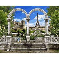 "Картины по цифрам ""Париж. Арка и вид на Эйфелеву башню"" [40х50см, С Коробкой]"