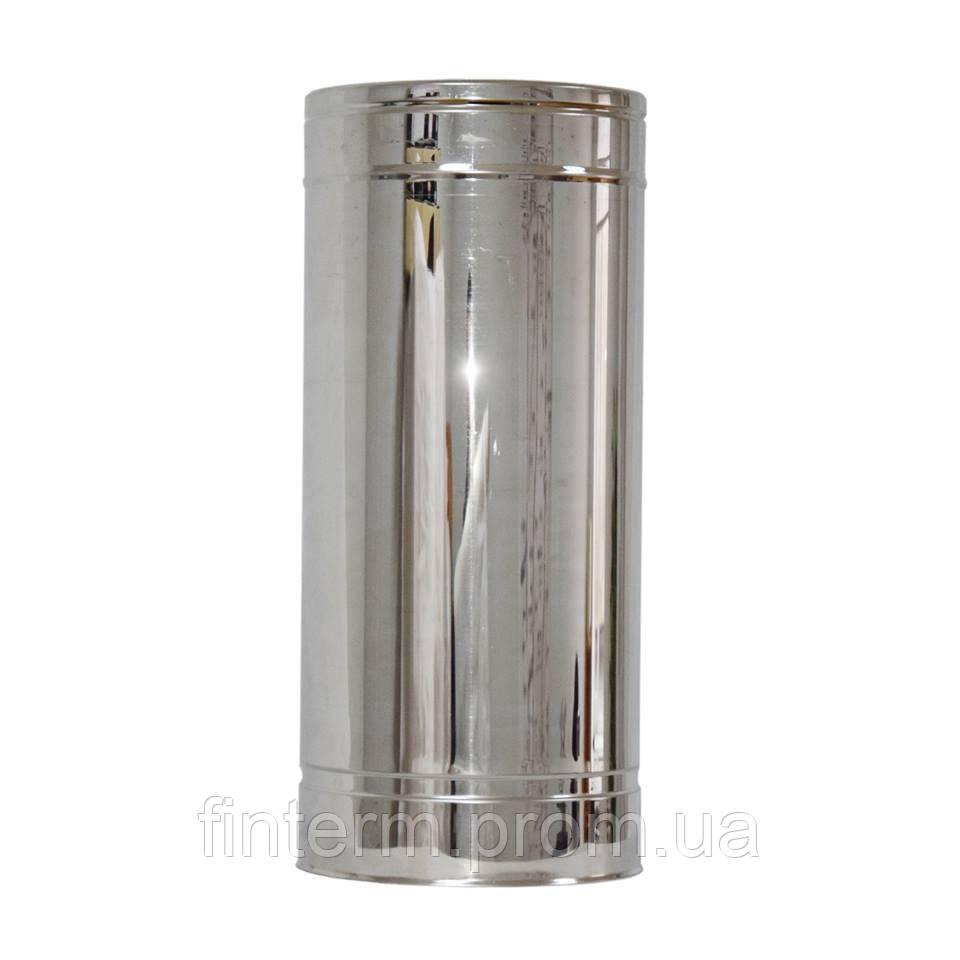 Труба з нержавіючої сталі утеплена н/оц 0,5 м (0,5 мм) 100/160