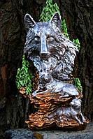 Скульптура Волчица 37 см. Полистоун