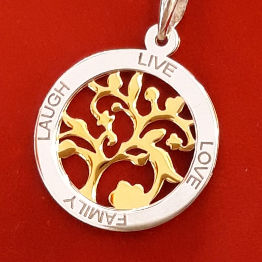 Кулон Цветущее Древо жизни серебро