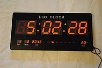 Настінний мережевий електронний годинник LED Digital Clock JH 4622-4 RED