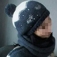 Комплект шапка и длинный шарф.