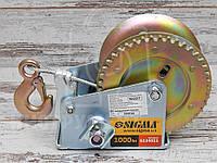 Лебедка ручная барабанная Sigma 6134011 450 кг