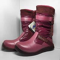 Зимние детские термоботинки розовые B&G