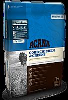 Корм Acana (Акана) Heritage Adult COBB CHICKEN GREENS для собак всех пород и всех возрастов (цыпленок+яйца), 340 гр.