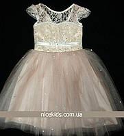 Нарядное детское платье фатин 104-116р 4-6 лет