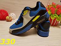Кроссовки аирмакс сине-желтые