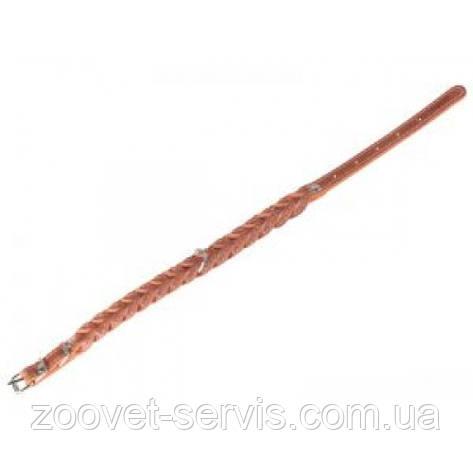 Ошейник для собак,кожаный двойная косаCollar(Коллар) 0153 20 мм,длина 32-40 см, фото 2