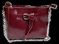 Женская сумочка с пряжкой из кожи красного цвета на плечо DJG-355255