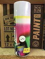 Аэрозольная краска для пластика BeLife (Белый матовый)