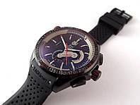 Механические часы TAG Heuer - Carrera Caliber цвет корпуса черный, каучуковый ремешок