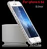 Бампера Swarovski для Iphone 6 6S (серебро) + пленка в подарок