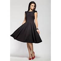 Изящное коктейльное черное платье