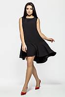 Роскошное черное платье  с летящим ассиметричным низом