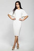 Элегантное платье по фигуре белого цвета