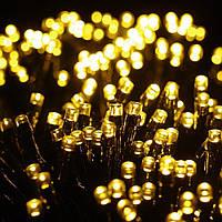 Гирлянда 500 LED на прозрачном проводе цвет желтый
