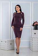 Теплое платье из ангоры сливового цвета