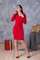 Яркое красное платье по фигуре
