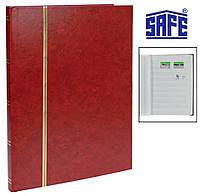 Кляссер альбом для марок Safe - 16 страниц А4 - белые страницы - красная обложка, фото 1