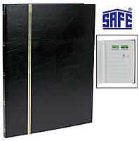 Кляссер альбом для марок Safe - 16 страниц А4 - белые страницы - черная обложка, фото 1