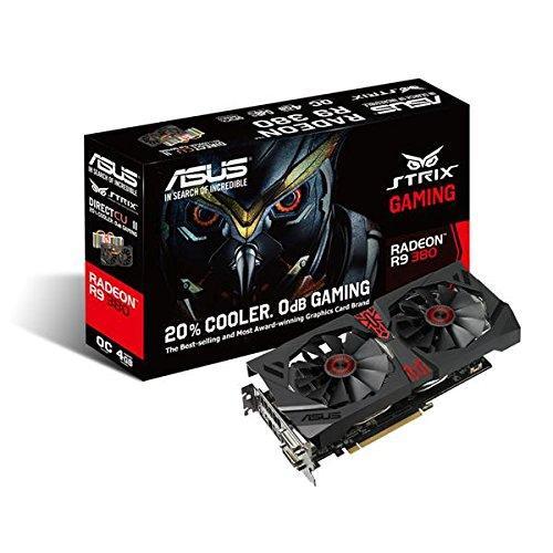 "Видеокарта Asus R9 380 Strix 4GB GDDR5 (256bit) ""Over-Stock"""