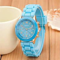 Силиконовые наручные часы: 100-17 голубой