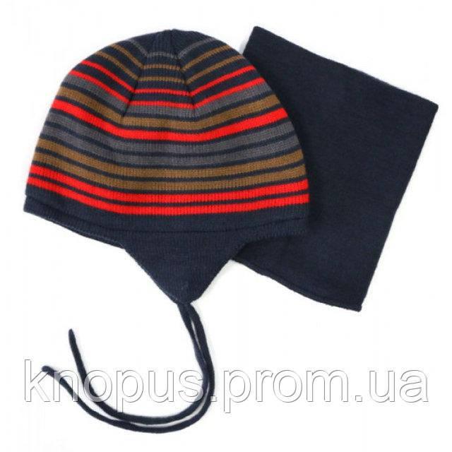 Зимняя шапка и манишка   Spicy, Peluche&Tartine, на 6-8  лет