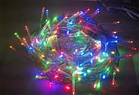 Разноцветная гирлянда 100 лампочек: 4 метра