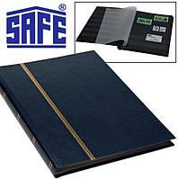 Альбом для марок SAFE - кляссер 16 страниц A5 - черные страницы - синяя обложка