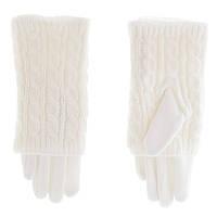 Перчатки женские вязка 602 Moda ПЖМ вяз/хб бел