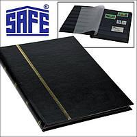 Альбом для марок SAFE - кляссер 16 страниц A5 - черные страницы - черная обложка