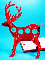 Деревянный Конструктор Олень Интерьерное Украшение для Атмосферы Нового Года и Рождества