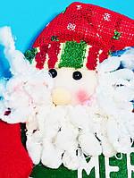 Мягкая Игрушка Дед Мороз Вывеска Горизонтальная Merry Cristmas Атмосфера Нового Года Рождества