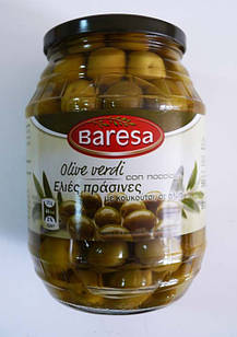 Оливки зелені без кісточки Baresa Olive, 950 гр.