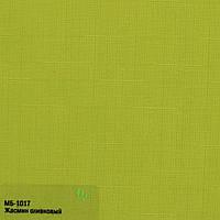 Готовые рулонные шторы 300*1500 Ткань Лён 7383 Оливковый