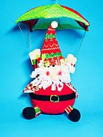 Мягкая Игрушка Дед Мороз Санта Клаус на Парашюте Santa Claus Атмосфера Нового Года Рождества