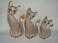 Набор статуэток кошек (30, 25 и 20 см)