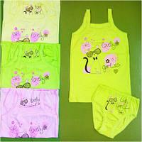 Комплект майка и трусы для девочки с накатом, фото 1