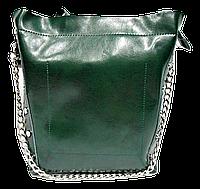 Прекрасная женская сумочка зеленого цвета из натуральной кожи DQG-301662