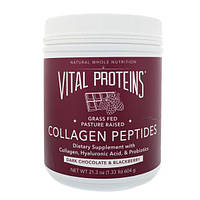 Vital Proteins, Пептиды коллагена, черный шоколад и ежевика, 21,3 унц. (604 г)