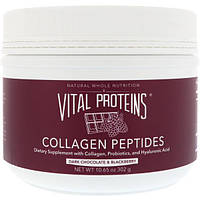 Vital Proteins, Пептиды коллагена, темный шоколад и черника, 10,65 унций (302 г)