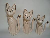 Семья котов со шнурком (30, 25 и 20 см)