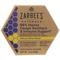 Zarbee's, 96% мёд, смягчение кашля и поддержка иммунной системы, натуральный цитрусовый вкус, 14 штук