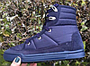 Полусапожки женские синие на шнурках  Литма
