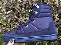Полусапожки женские синие на шнурках  Литма, фото 1