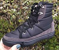 Полусапожки женские черные на шнурках  Литма, фото 1