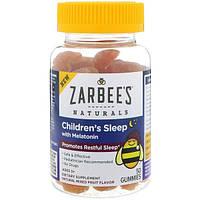 Zarbee's, Для здорового детского сна, с мелатонином, натуральный фруктовый аромат, 50 жевательных конфет