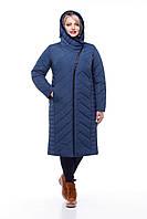 Стильное зимнее женское пальто с отделкой из мутона
