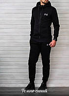 Спортивный костюм Under Armour мужской (темно-синий), ТОП-реплика